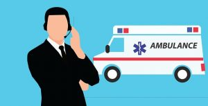 vælg mellem liggende sygetransport og ambulance